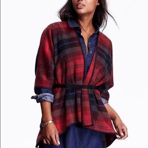 Other - Mad for Plaid poncho size M/L
